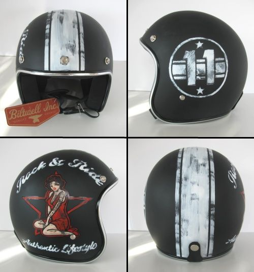 Distressed Lids Old School Helmets Custom Paint Motorcycle