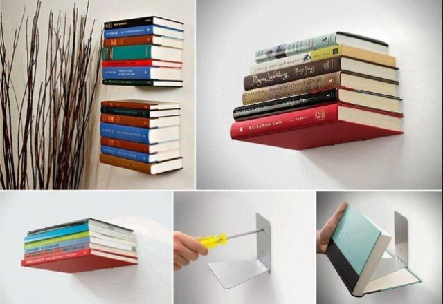 Perfect for if you are out of room in your bookshelf, don't have a bookshelf, or if you just want to decorate a wall.
