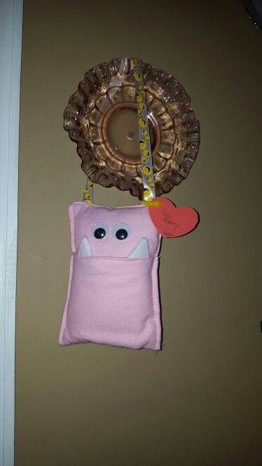 My mother made Alyvia a tooth holder, now that silly fairy won't have anymore trouble finding her teeth!
