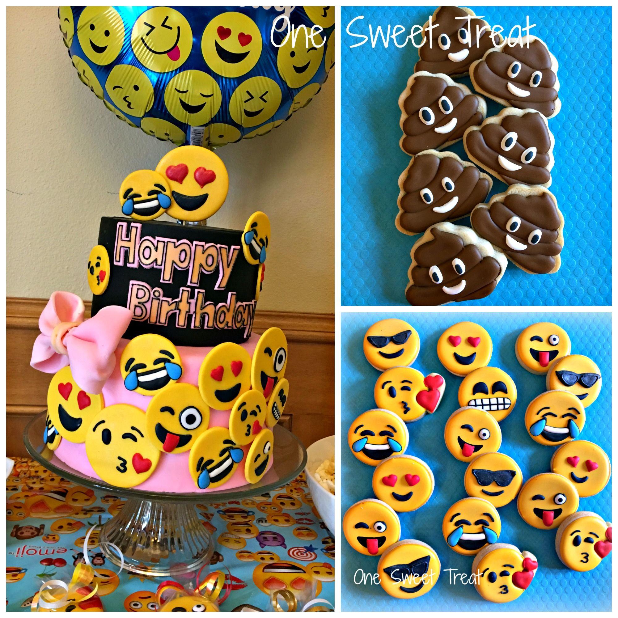 Emoji Birthday Cake And Cookies This Was My Daughter S