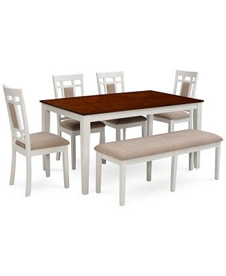 Delran White 6-Piece Dining Room Furniture Set $615 for ...