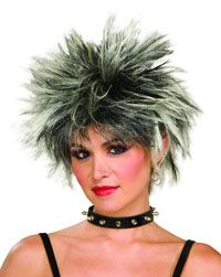 80′s Spiked Punk Black and White Wig – Costume Wigs « Mutant Faces