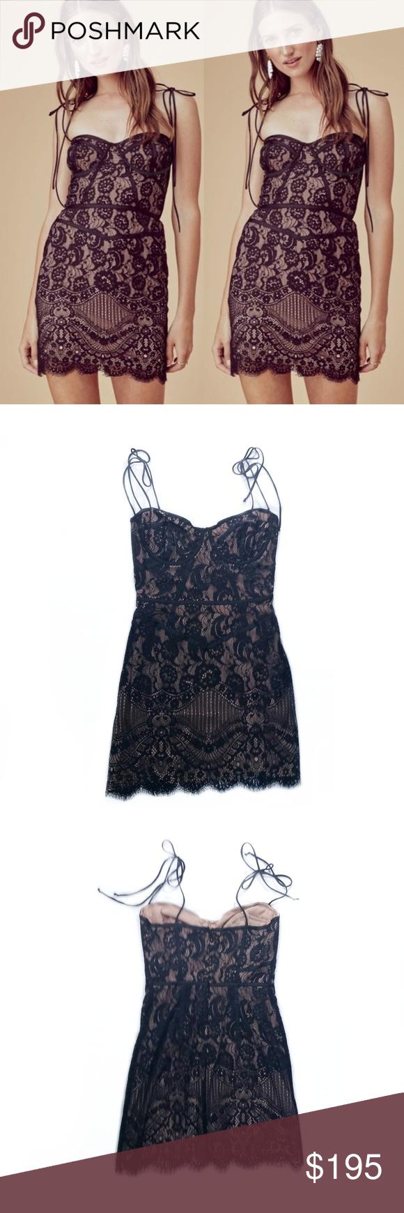 For Love And Lemons Black Lace Corset Tati Dress Beautiful