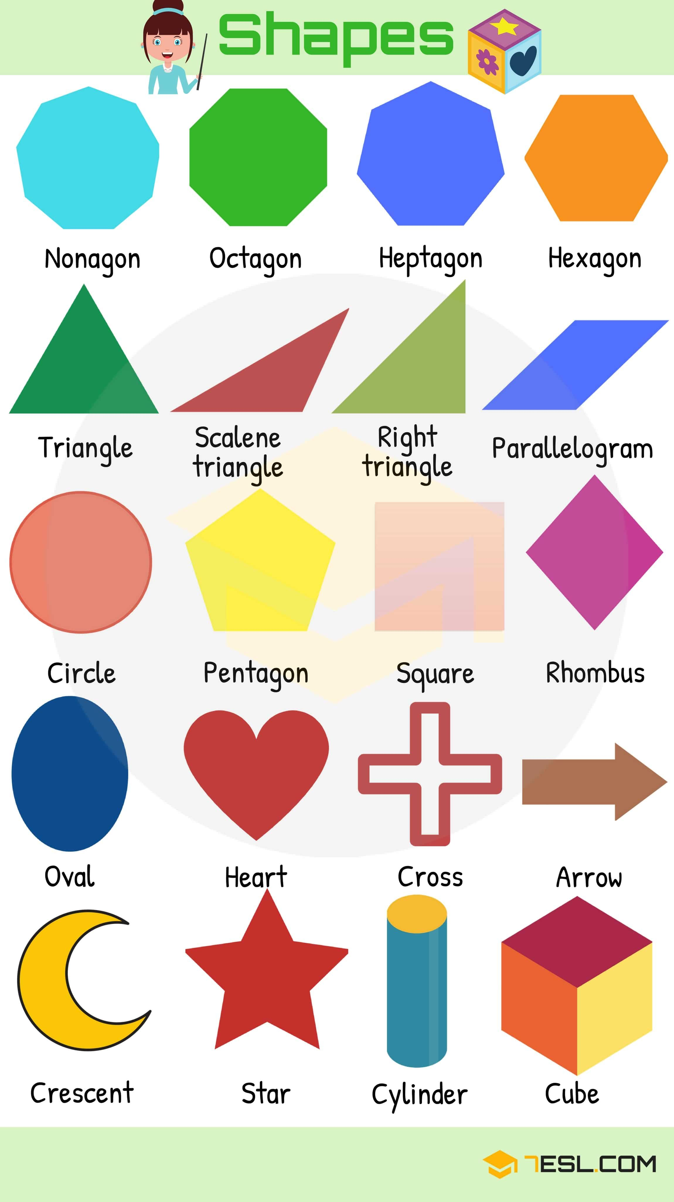 Shapes Names: List of Different Types of Geometric Shapes