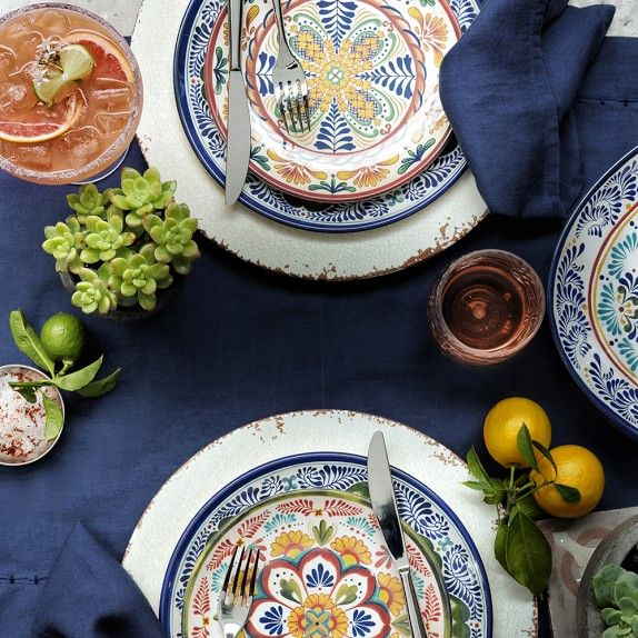 Veracruz Outdoor Melamine Salad Plates Set Of 4 Multi Melamine