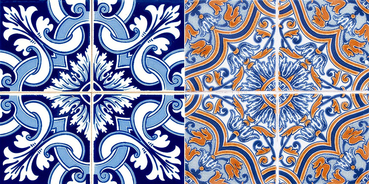 AmazonSmile: Authentic Tile Stickers By Mi Alma 24 PC set Spanish Design Wall Tile Decal Perfect for Kitchen Backsplash or Bathroom Tiles Vinyl Art Easy to Install Peel and Stick (4x4 Inch, Vintage Blue H202): Home & Kitchen