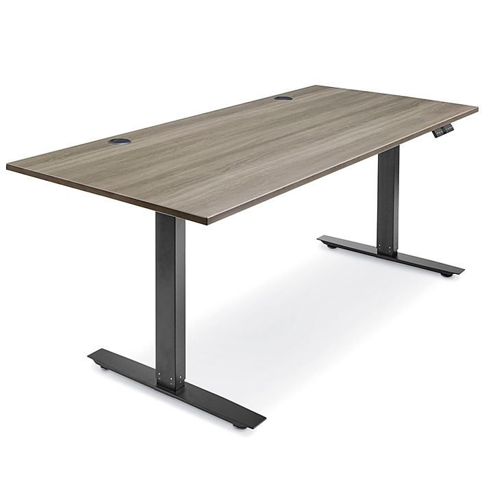 Adjustable Height Desk 72 X 30 Gray H 7599gr Uline