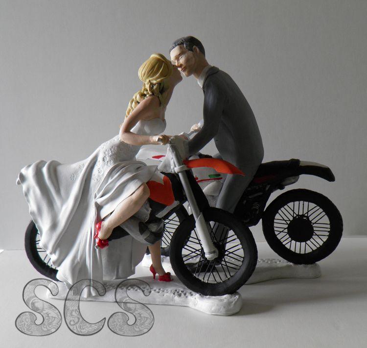 Custom Wedding Cake Topper Dirt Bikes Order YOUR Today