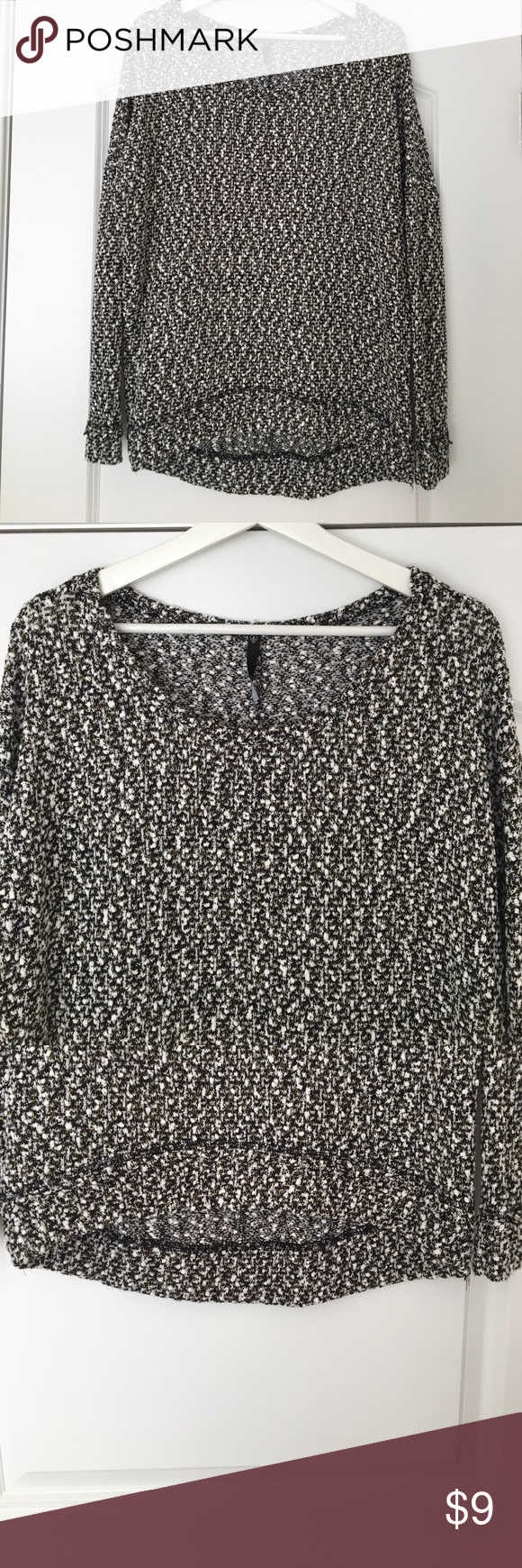 2aeaa91c8e9 Black/white/gold knit sweater from Love Culture Black/white/gold ...