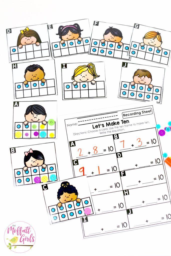 Kindergarten Math: Addition | Ten frames, Kindergarten and Activities