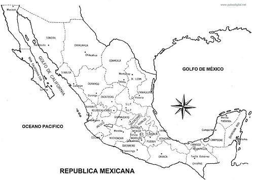Mapa Republica Mexicana | DAIRA ESQUIVEL MEJIA | Pinterest | Craft
