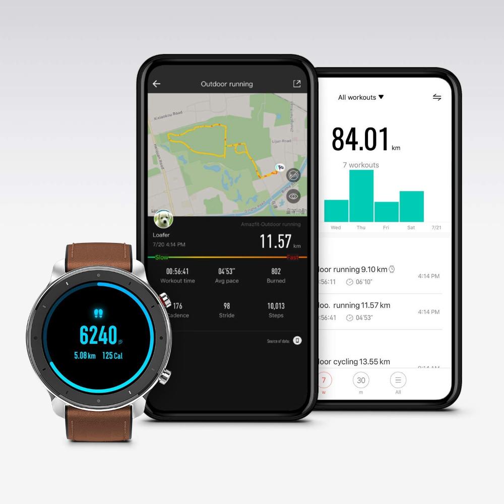 Amazfit Gtr 47mm Smart Watch Mit Ganztagiger Amazon De Elektronik In 2020 Smartwatch Herzfrequenz Sportuhr
