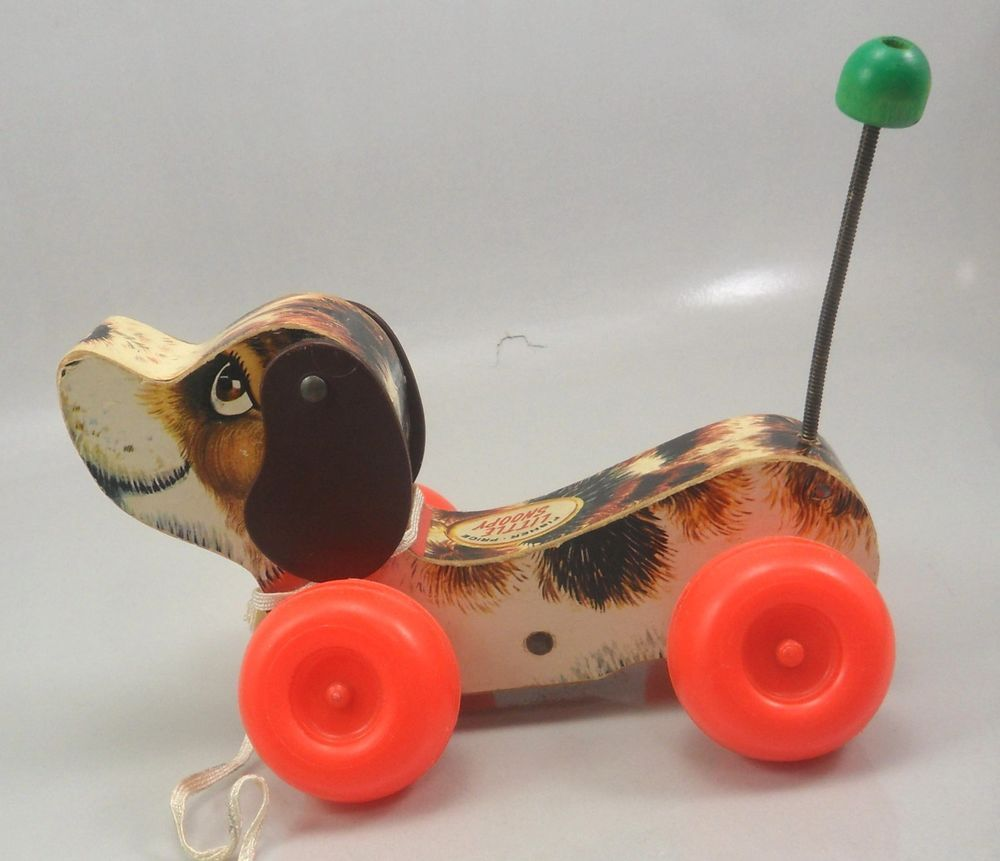 Vintage 1965 Fisher Price Little Snoopy Dog Pull Toy