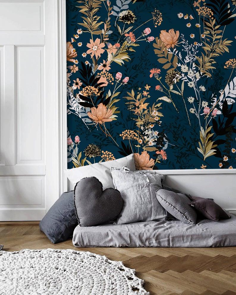 Removable Wallpaper Peel And Stick Wallpaper Wall Paper Wall Mural Tropical Floral Wallpaper A572 Bedroom Feature Wallpaper Removable Wallpaper Wall Wallpaper