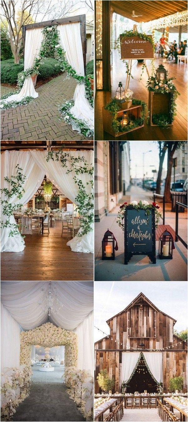 Wedding entry decoration ideas  Top  Wedding Entrance Decoration Ideas for Your Reception