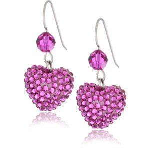 Rose Earrings | PINK! Pink Shoes, Pink Accessories and Pink Stuff