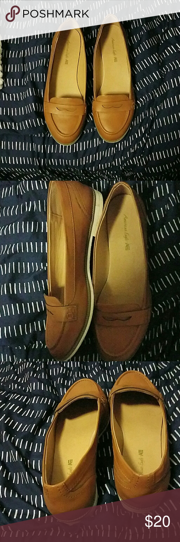52604eac3cc American eagle penny loafers Tan