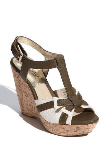 strap sandals, Wedge sandals