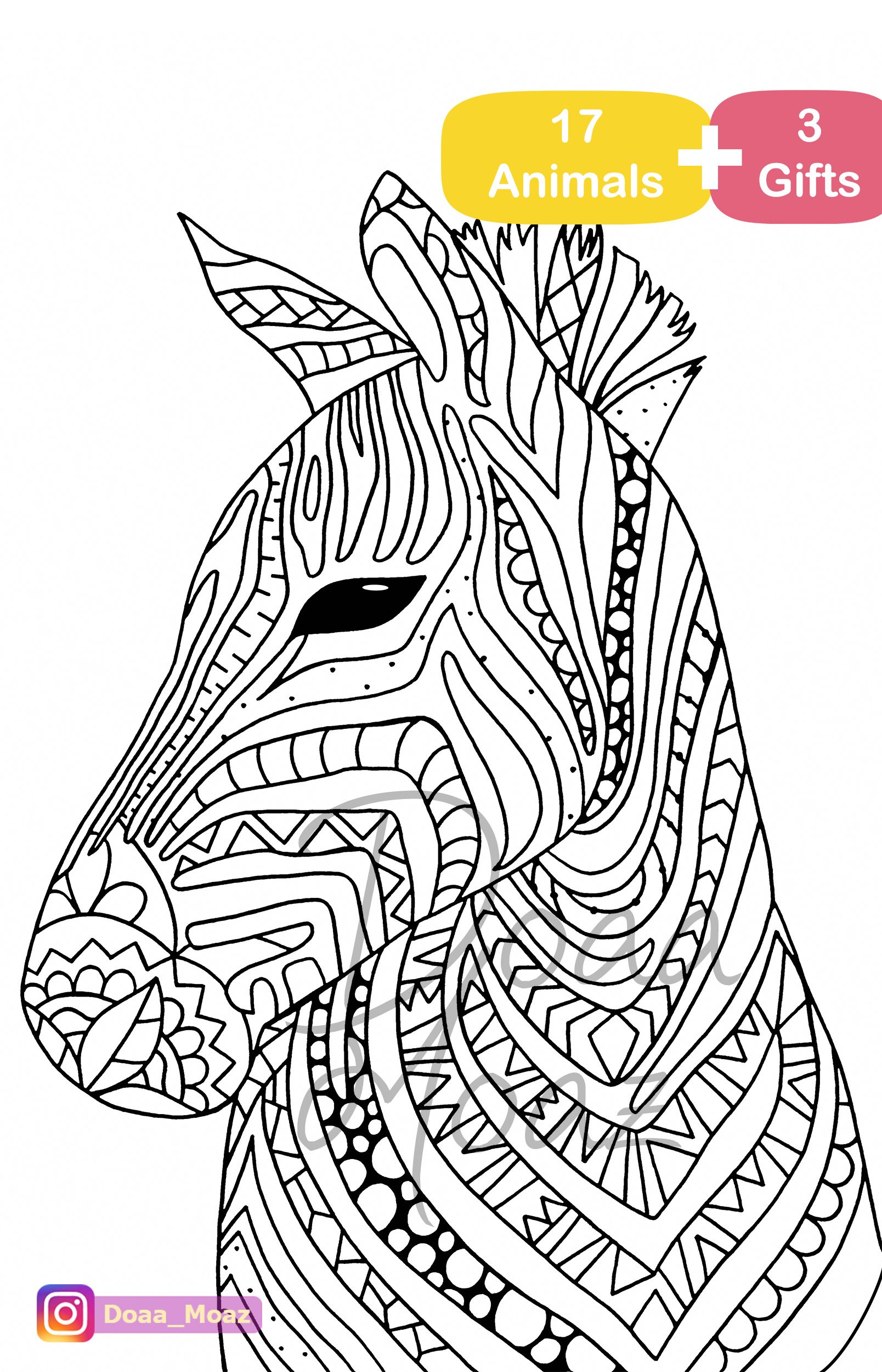 Animal Coloring Pages For Adults Pdf