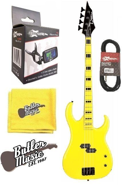 Dean CZONE BASS YEL Custom Zone Electric Bass Guitar w/Effin Tuner
