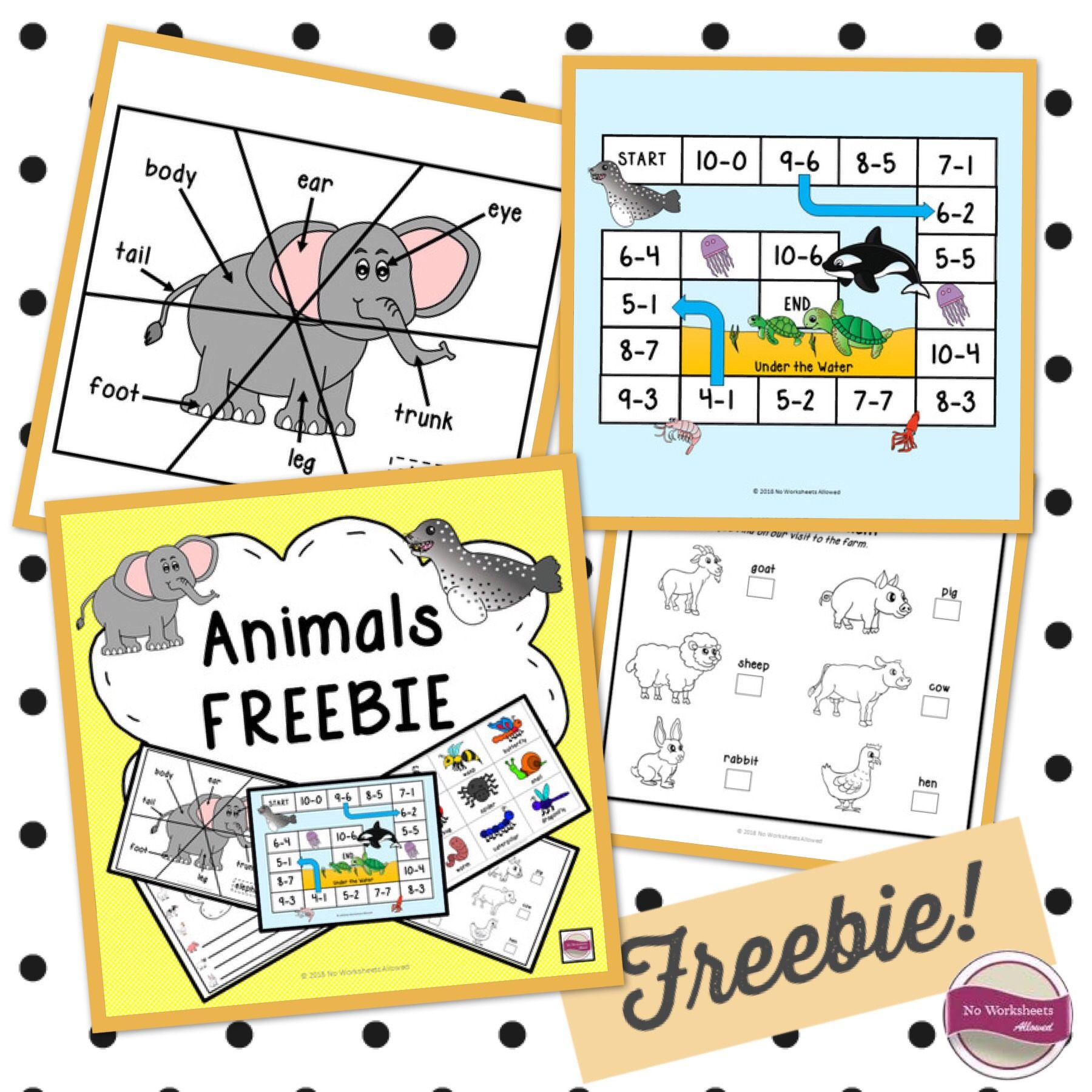 Animal Activities And Games Freebie