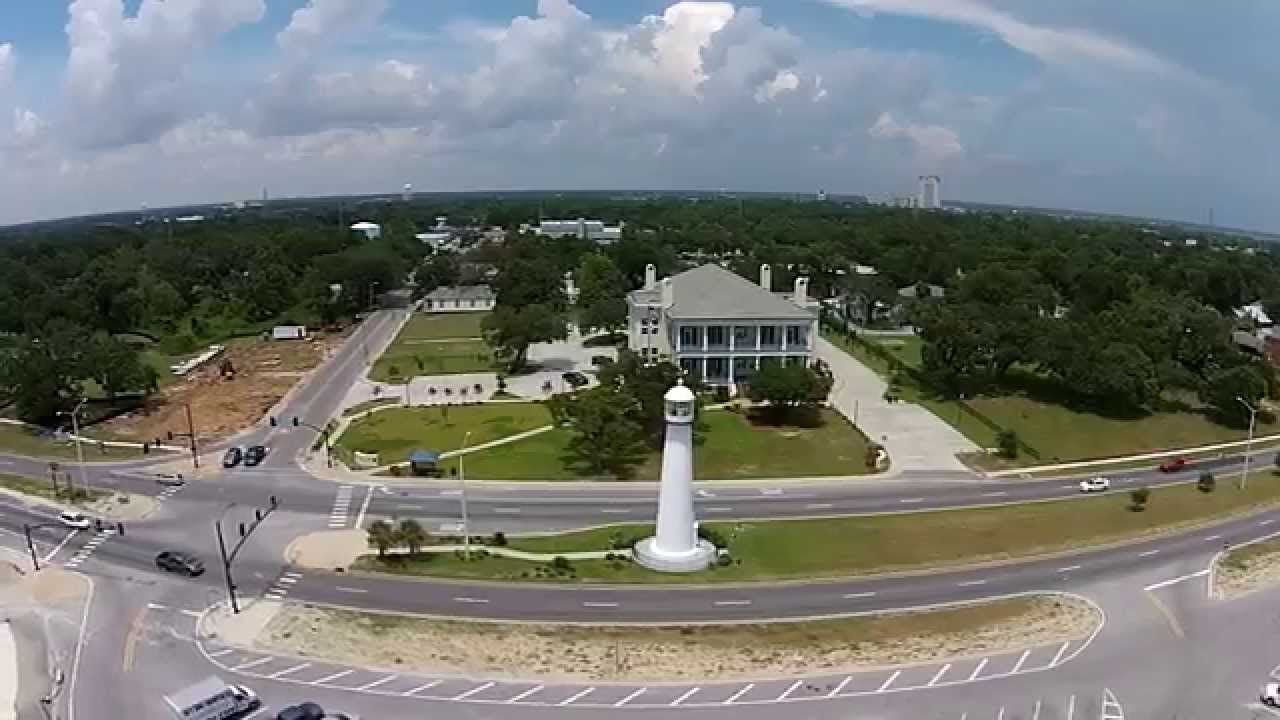 Great Aerial View Of The Biloxi Lighthouse Biloxi Visitors Center