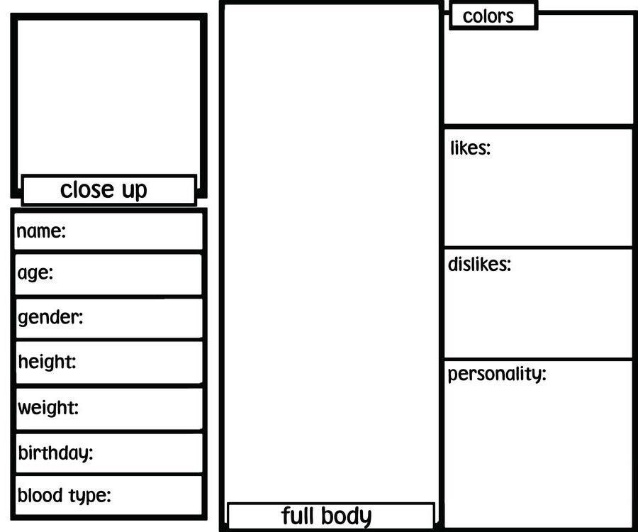 Pin By Quinn On Drawing References Character Sheet Writing