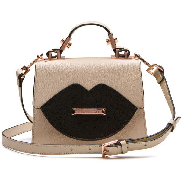 LIPS CROSSBODY (€235) ❤ liked on Polyvore featuring bags, handbags, shoulder bags, purses, handbags crossbody, leather cross body purse, brown leather crossbody, brown crossbody purse and leather purses