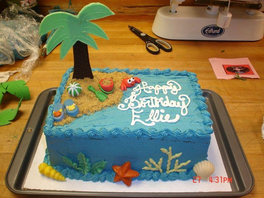 Ocean Themed Sheet Cakes Pin Ocean Beach Theme Wedding Cake Cake