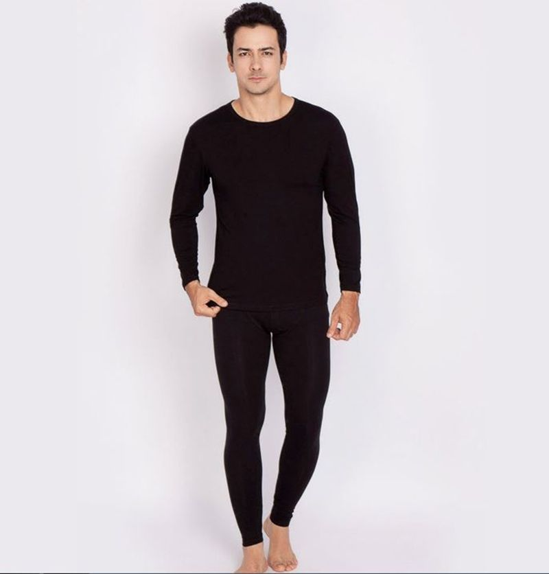 Men Pajamas Set Good Stretch 2017 Fall Winter Breathable Sleepwear Skin  feeling Good Free shipping Hot Black Navy Grey c5eb901a9