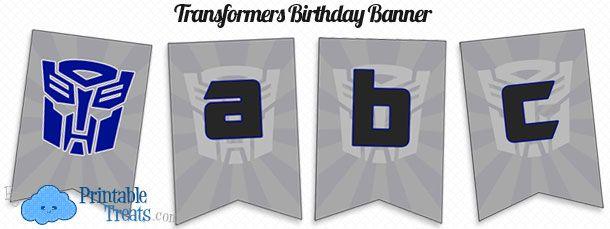 Free Printable Transformers Birthday Banner