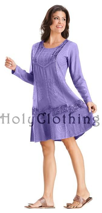 Viola Velvet Lace Embroidered Gypsy Hippy BabyDoll Mini Dress (I'd wear it as a top with pants underneath)