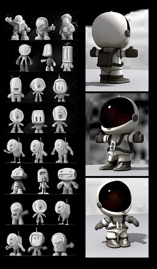 3D characters on Behance