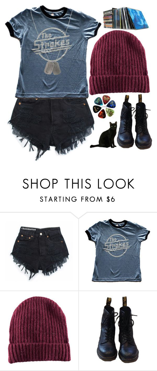 """""""pck"""" by geenamichelle ❤ liked on Polyvore featuring H&M, Dr. Martens and Dsquared2"""