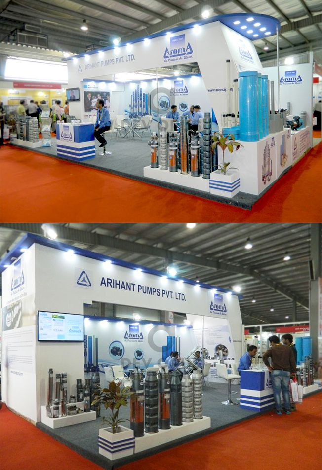 Exhibition Stall Design Agency In Gujarat : Engineering machinery company s exhibition stall design and