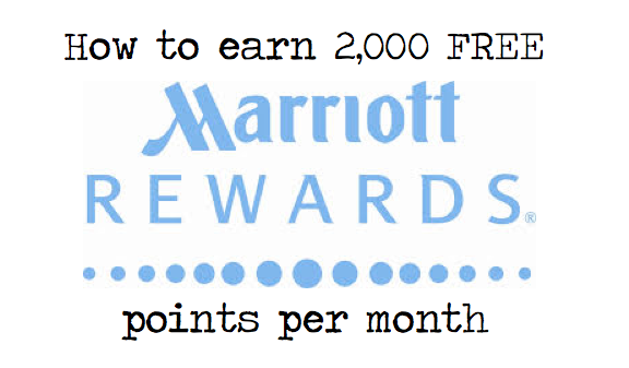 How to Earn 2,000 FREE Marriott Points A Month