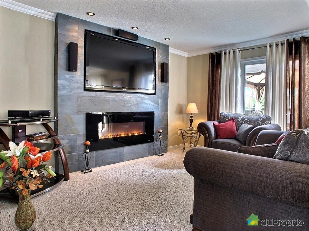 foyer electrique meuble tv avec
