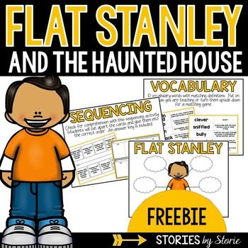Flat Stanley and the Haunted House (FREEBIE) - This book companion - flat stanley template