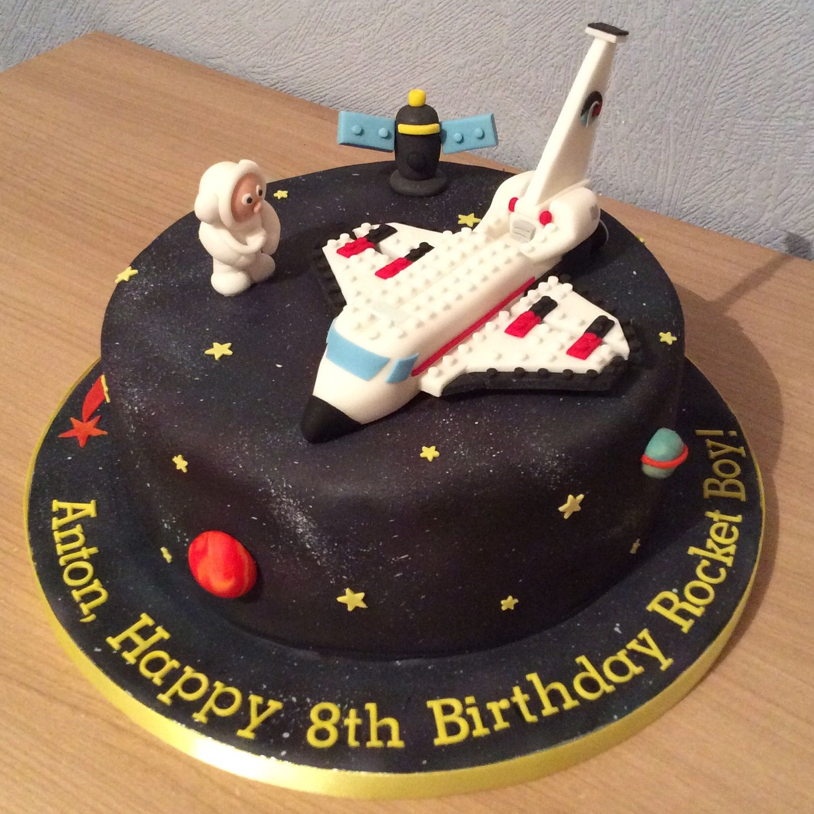 Superb Lego Space Shuttle Cake Lego Space Shuttle Space Birthday Party Personalised Birthday Cards Vishlily Jamesorg