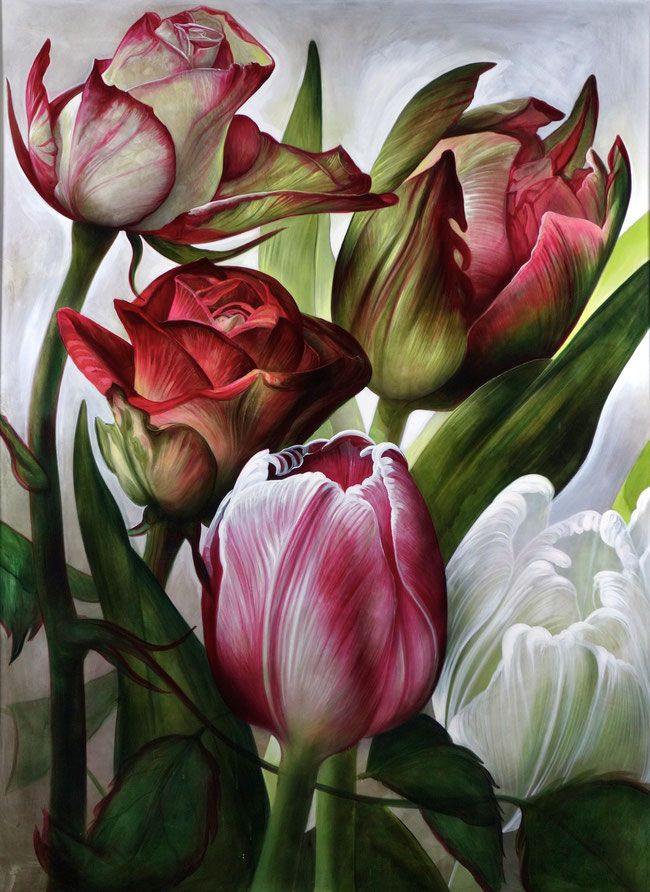 Blumen Bild In Acryl Acrylmalerei Abstraktes Malen Auf