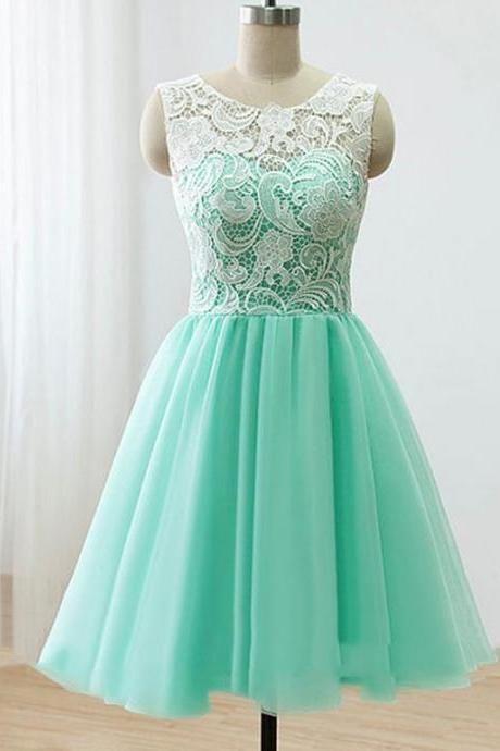 f4fd4a05b2 Mint Green Bridesmaid Dresses Knee Length Lace Top Buttons Back Elegant  Women Party Dresses for Country Wedding vestido de madrinha de casamento  CS623