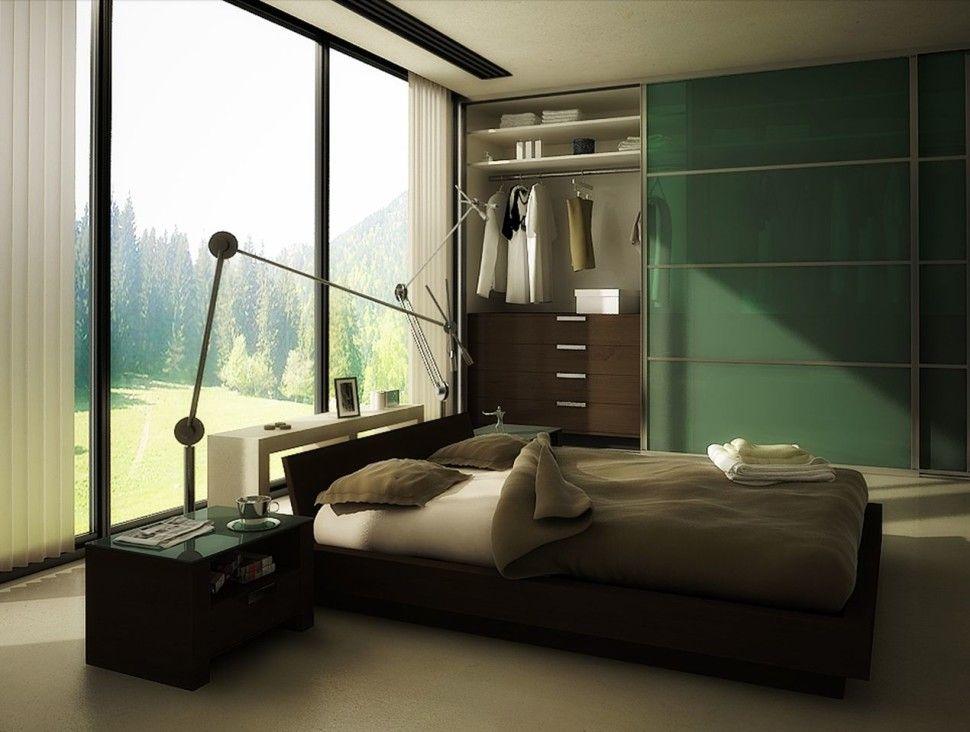 Bedroom Curtains Color Decor Bench Lamps Dresser Closet