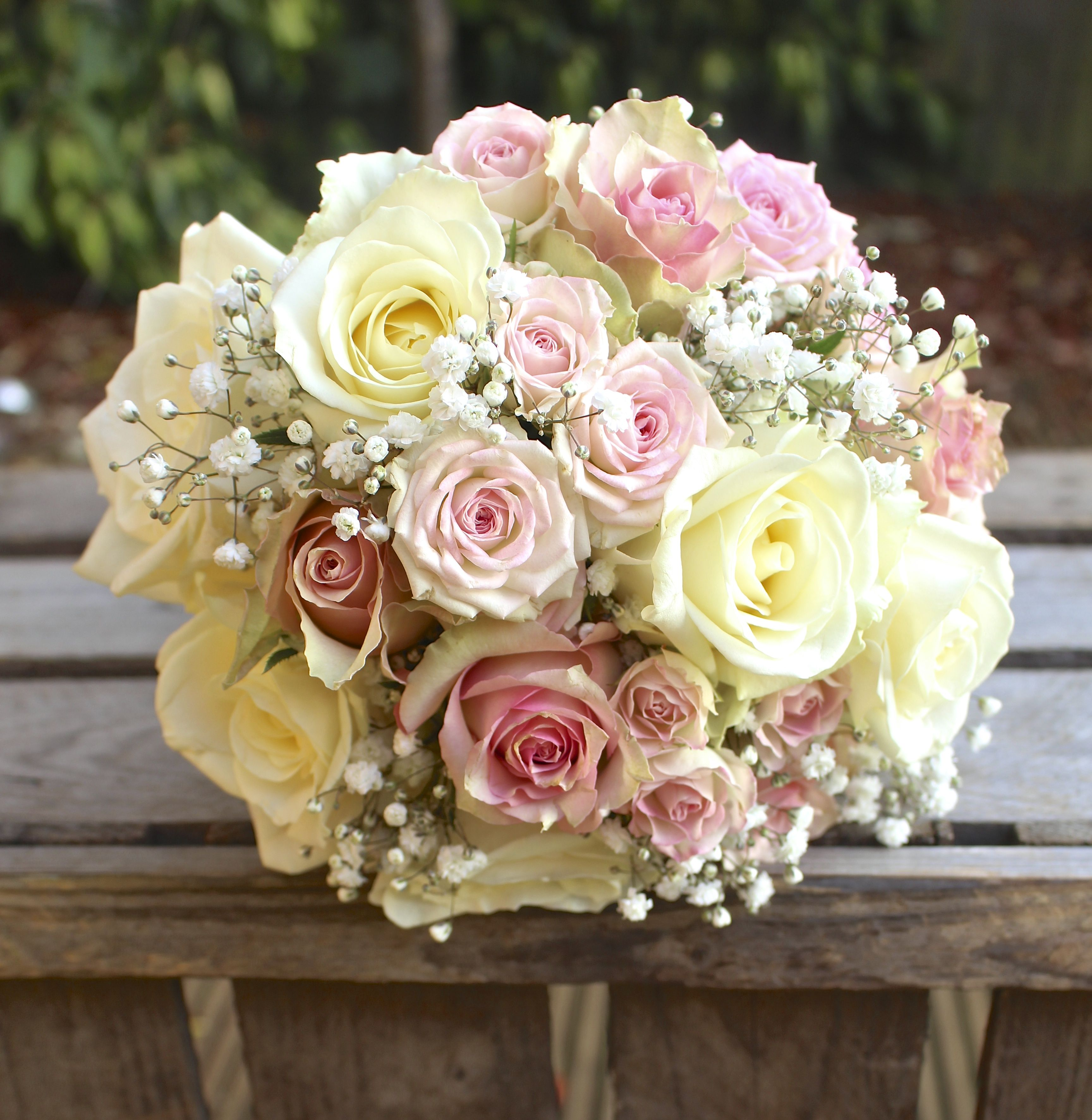 Pale Pink And Cream Ice Colours Wedding Bouquet Created By Stemsationsco