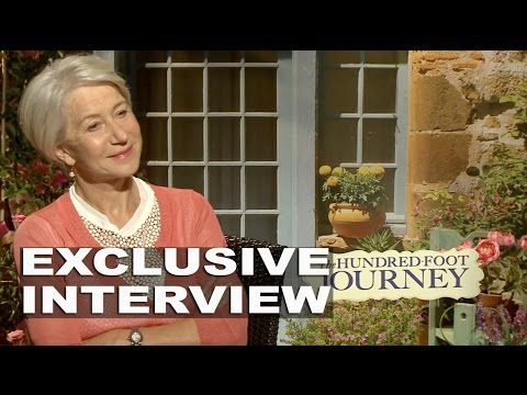 Check out Helen Mirren in this exclusive interview about her role in the #100FootJourney!