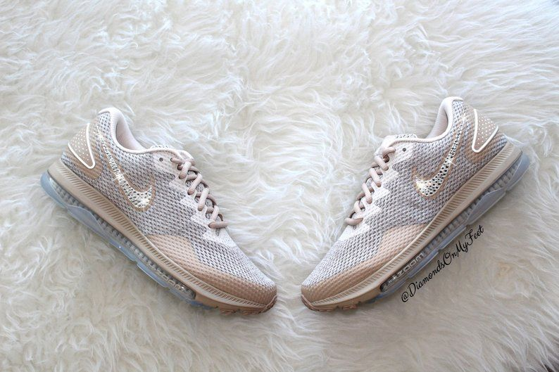 Swarovski Nike Women's Zoom All Out Low Custom Bling White Pure Platinum Shoes