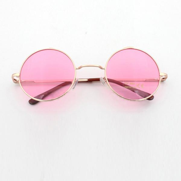 6c8293493c John Lennon Round Sunglasses In 3 Pastel Colors Pink Blue Or Purple Hippie  Shades With Gold Frames Coachella Festival Boho Groovy