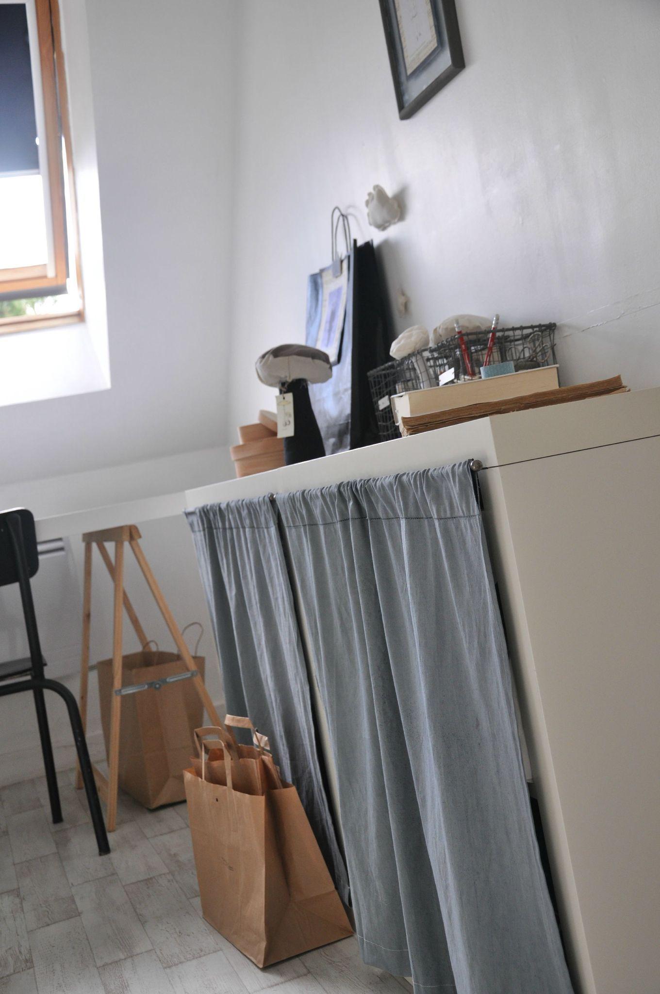 Rideaux en m tis teinture grise mobilier de salon - Rideaux salle a manger salon ...