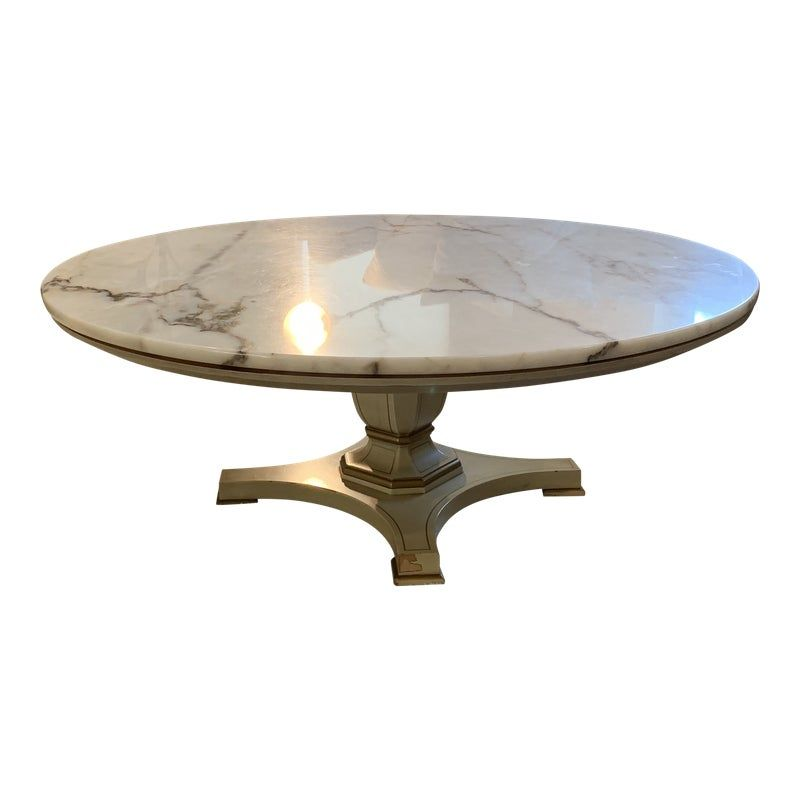 1970s Antique Marble Round Coffee Table Round Coffee Table Marble Coffee Table Marble Round Coffee Table