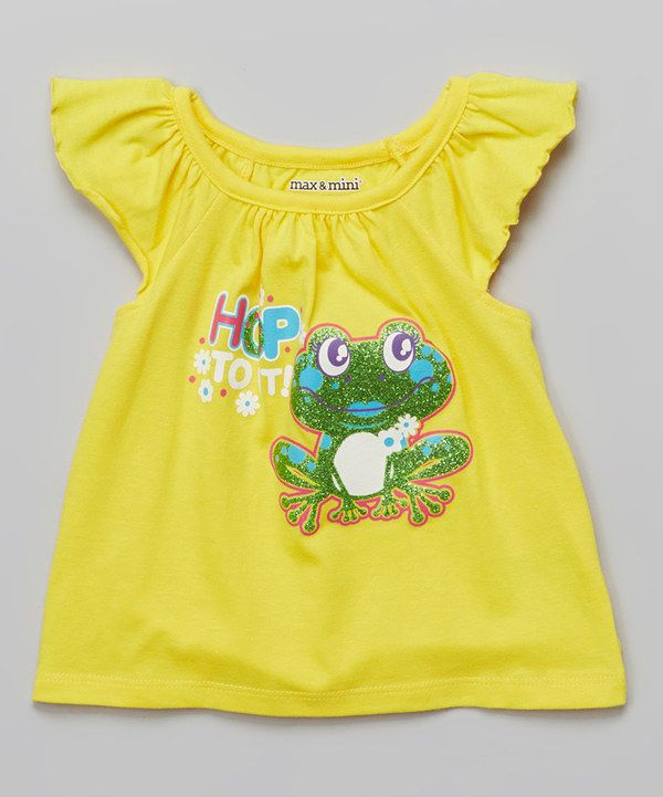 Look at this Dandelion 'Hop To It' Frog Angel-Sleeve Top - Infant on #zulily today!