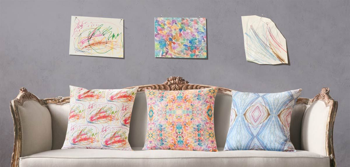 Turn your child's artwork into a one-of-a-kind keepsake Mother's Day gift this wonderful service doing great things with custom art pillows.